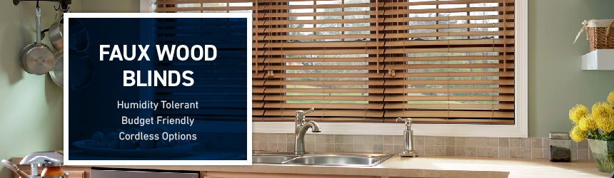 Shop Custom Faux Wood Blinds